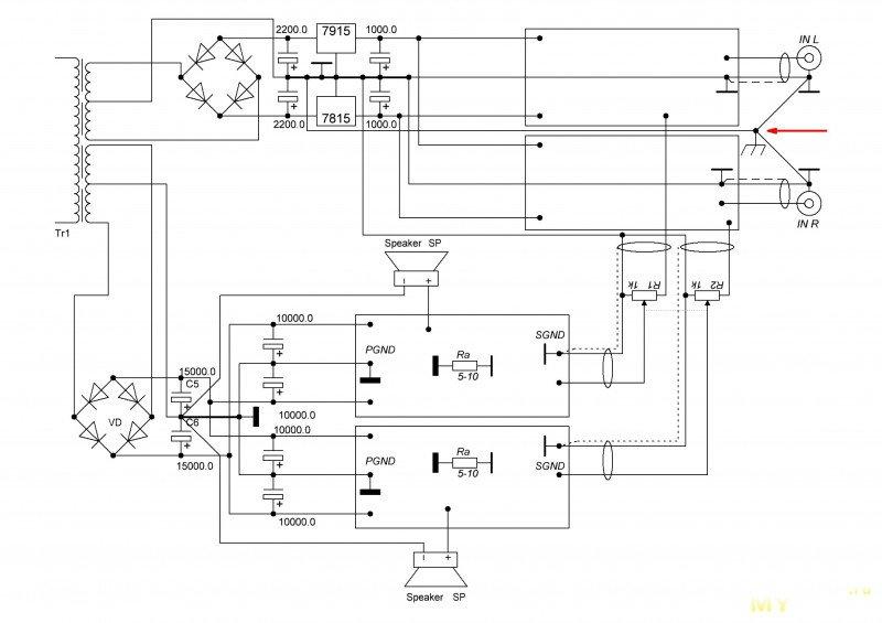 Модификация УМЗЧ Амфитон-У-101.