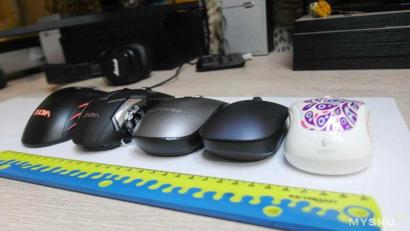 Bluetooth 3.0/5.0 мышка BlitzWolf® BW-MO3 с тихим кликом и настраиваемым DPI (800-2400).