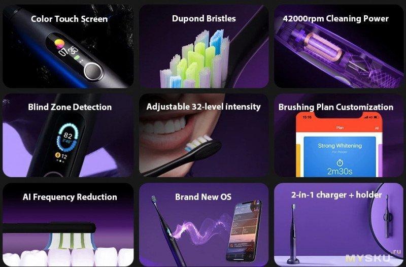 40.99$ Самая низкая цена на топовую зубную щётку Oclean X Pro