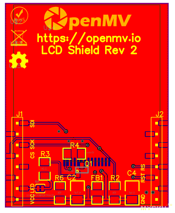 LCD-шилд для OpenMV своими руками