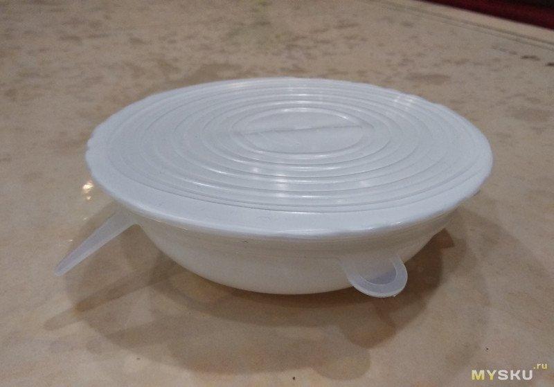 Силиконовые крышки. Накрываем кастрюли и тарелки.
