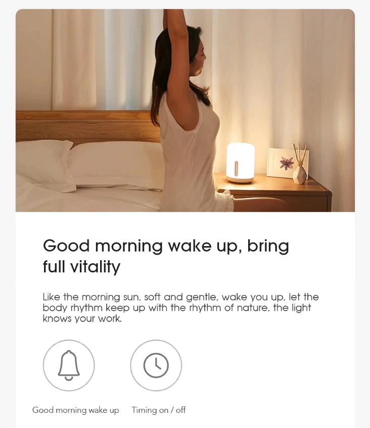 Световой будильник, ночник, прикроватная лампа Mijia Bedside Lamp 2. За .00 с промо-кодом.