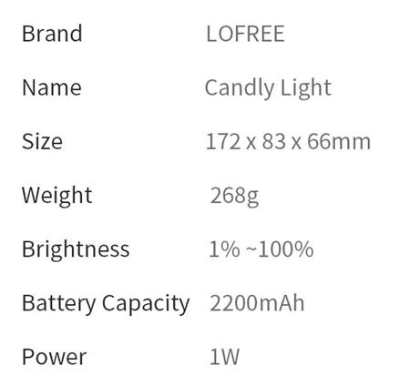 Светодиодный светильник Lofree CANDLY. За .55 с промо-кодом