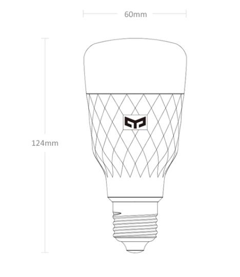 Умная/управляемая лампа Yeelight 1S. За .69 с промо-кодом.