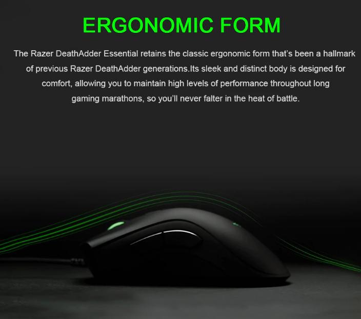 Проводная игровая мышь Razer DeathAdder Essential в коробке за .29