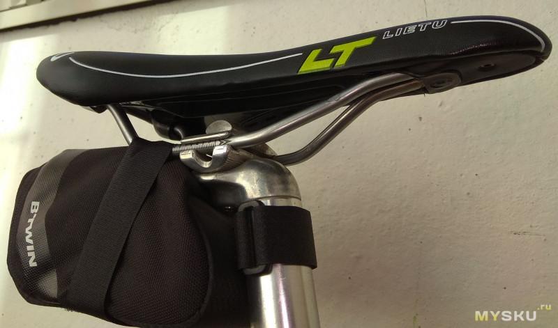 недорогое седло Leitu для велосипеда после 1 сезона использования