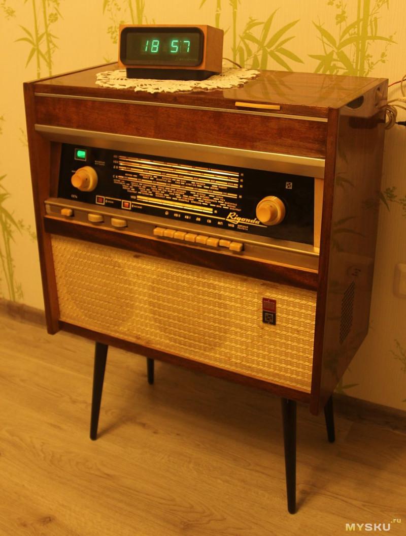 Делаем ламповую bluetooth колонку из советской радиолы Ригонды 1965-х годов