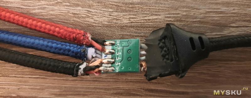 Обзор трехглавого кабеля со вскрытием