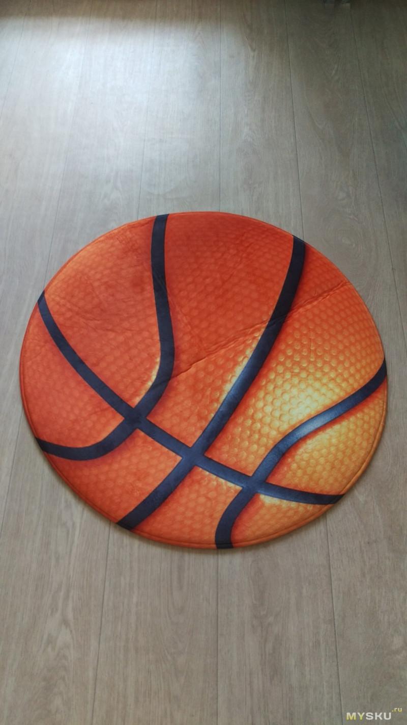 """мини-обзор на коврик с принтом """"баскетбольный мяч"""""""