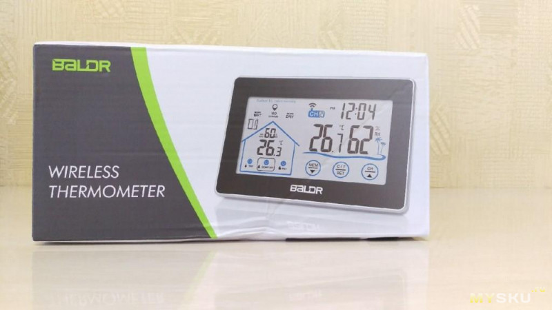 Беспроводной цифровой термометр baldr с ЖК дисплеем.