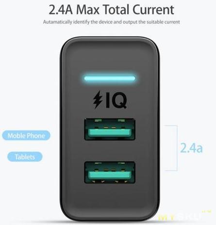 FLOVEME Dual USB зарядное устройство $3.33