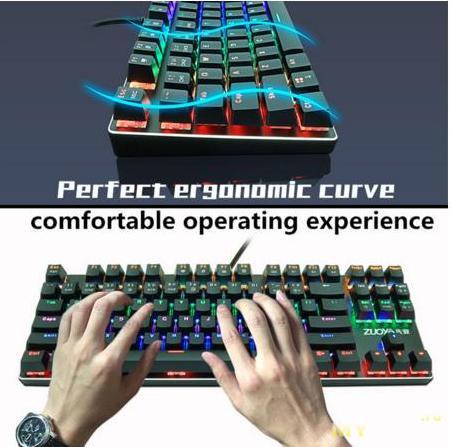 Игровая механическая клавиатура с русской раскладкой и подсвечиваемыми клавишами за $22.99