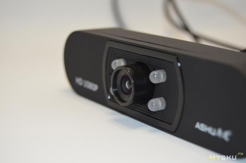веб-камера 1080P с ручной фокусировкой и встроенным микрофоном ASHU H800.