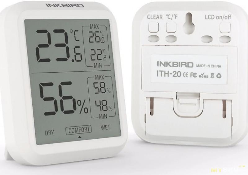 Высокоточный цифровой термометр- гигрометр INKBIRD ITH 20 20R. $17.60