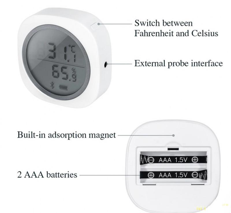 Беспроводной термометр-гигрометр INKBIRD  IBS-TH1. $17.96