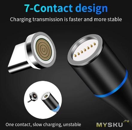 Новый Магнитный Usb кабель от компании Earldom.$3.21
