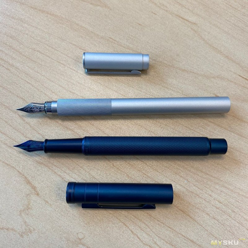 Алюминиевая перьевая ручка Muji aluminum round fountain pen, fine nib [made in Japan]