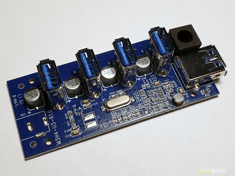 Высокоскоростной USB3.0 HUB на 4 порта от ORICO. 5 Gbps и подставка для телефона)
