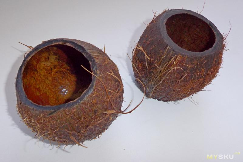 Ваза/элемент декора из кокоса
