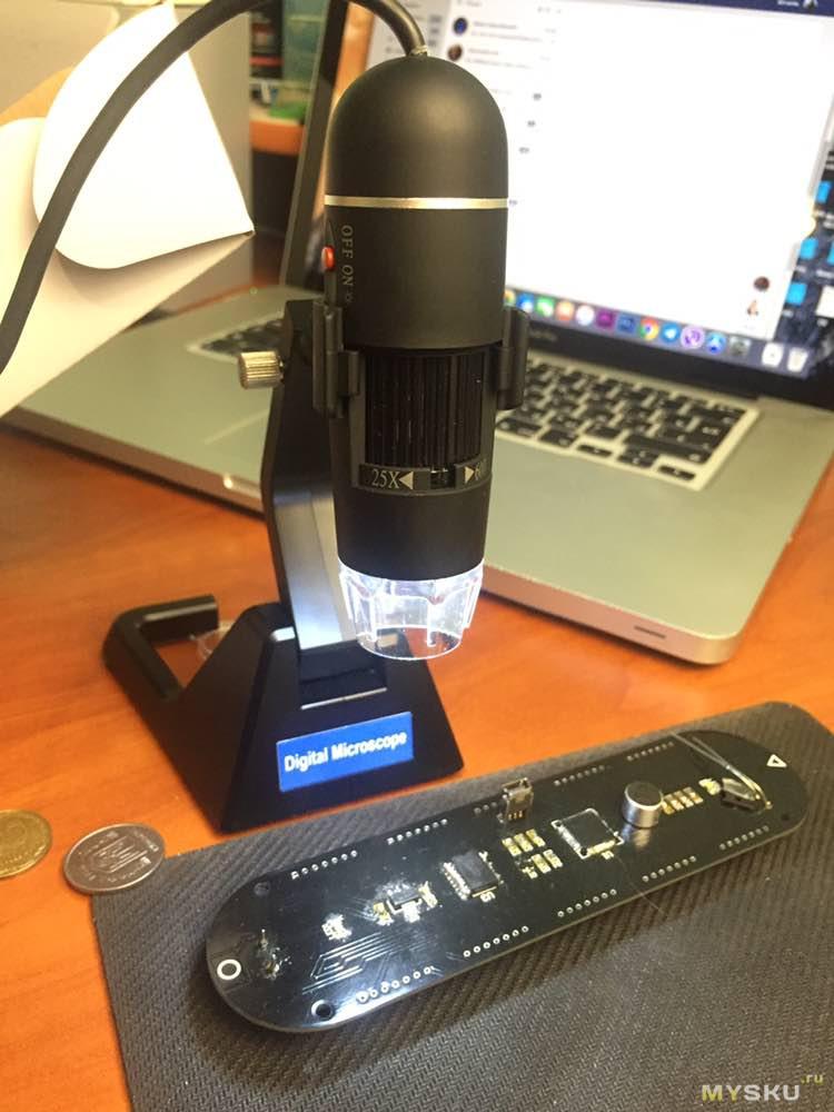 Цифровой микроскоп 25X-600X