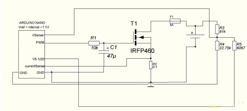 Простая электронная нагрузка на Arduino.