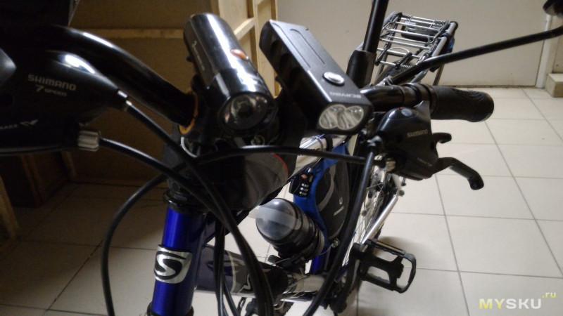 Велосипедная фара 1000 лм со встроенной батареей, перезаряжаемая от USB
