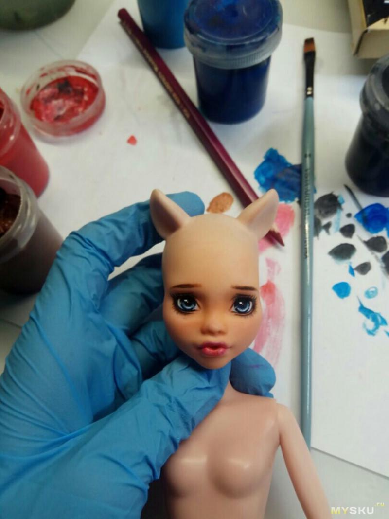 Сажаем голову на безголовое тело и делаем куклу