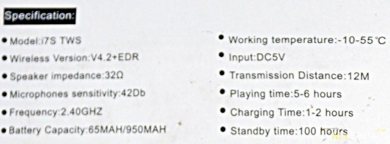 Китайские наушники i7S TWS с док-станцией. AirPods на минималках.