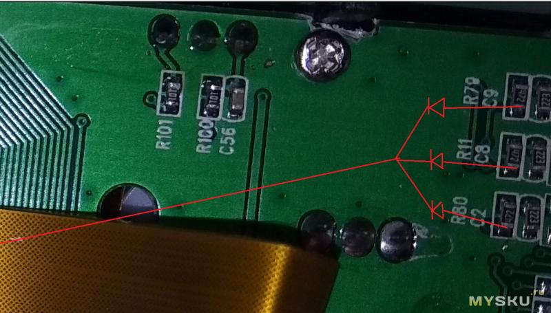По следам автомагнитолы SWM 7805. Отключаем подсветку LCD в выключенном состоянии.