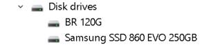 SSD накопитель BR J11 120GB