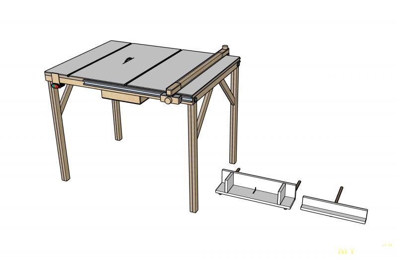 DIY любительский распиловочный стол
