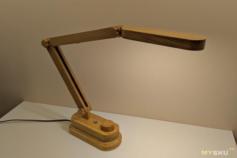 DIY настольная лампа, настоящий теплый и ламповый проект