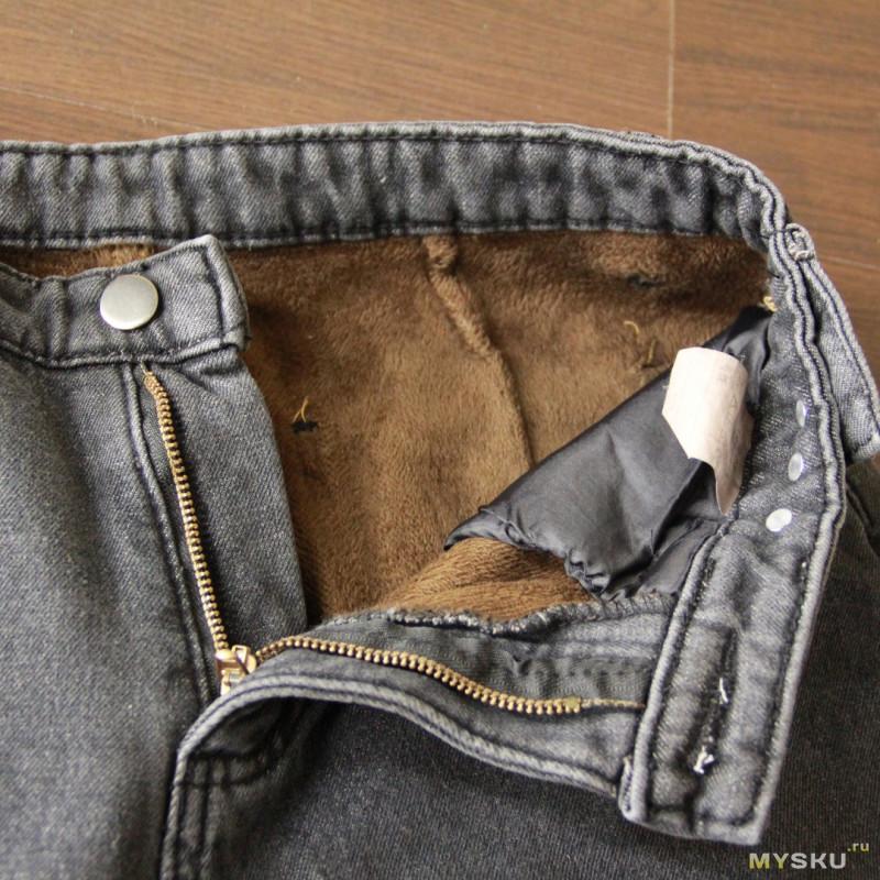 Теплые джинсы с Aliexpress