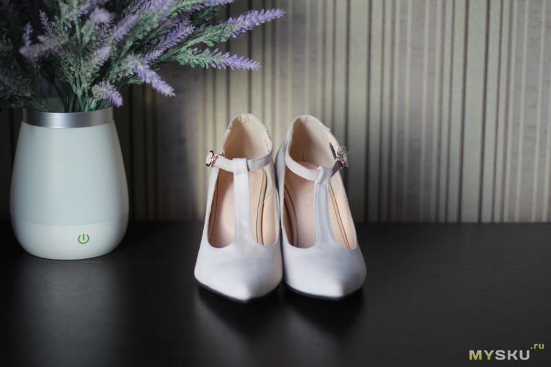 Стильные туфли с красивым каблуком