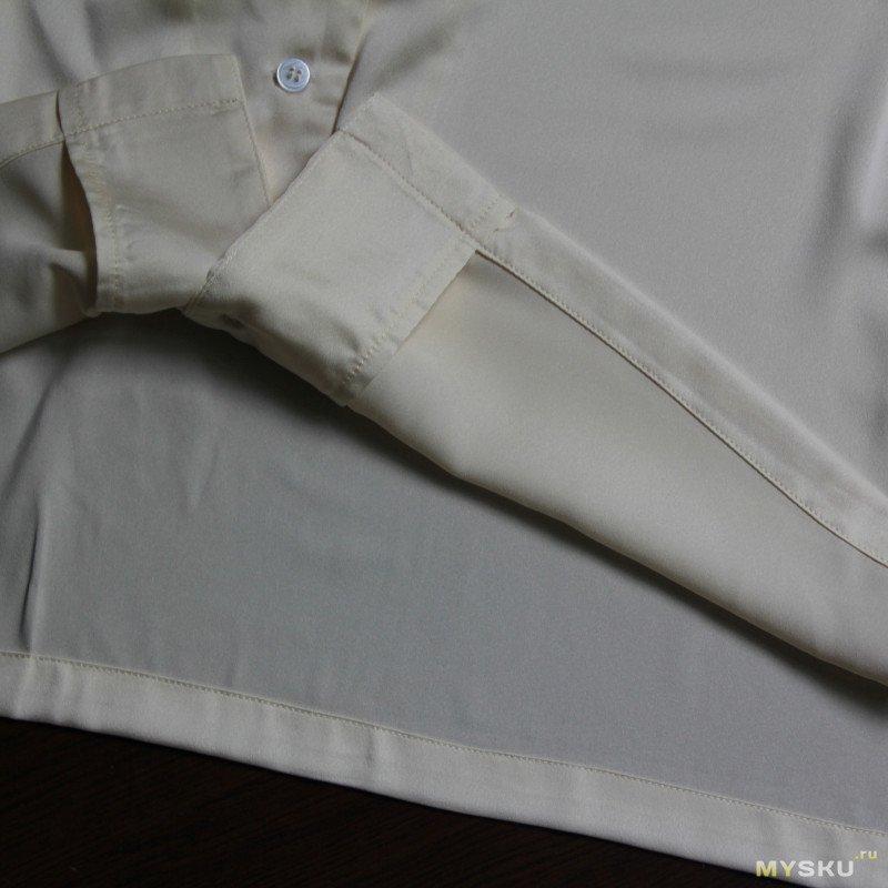 Атласная рубашка на лето