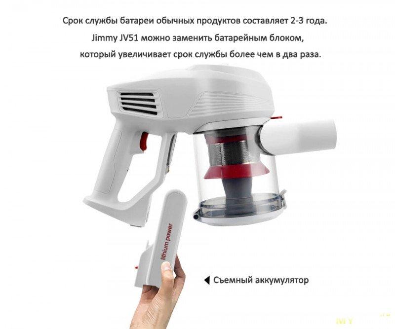 Беспроводной ручной пылесос Jimmy JV51. 9.99