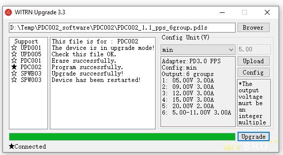 WITRN-PDC002 usb-c на dc_5,5 программируемый кабель