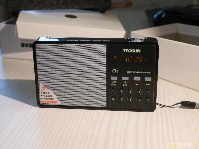 Радиоприёмник Tecsun D3. Малыш с приятным голосом.