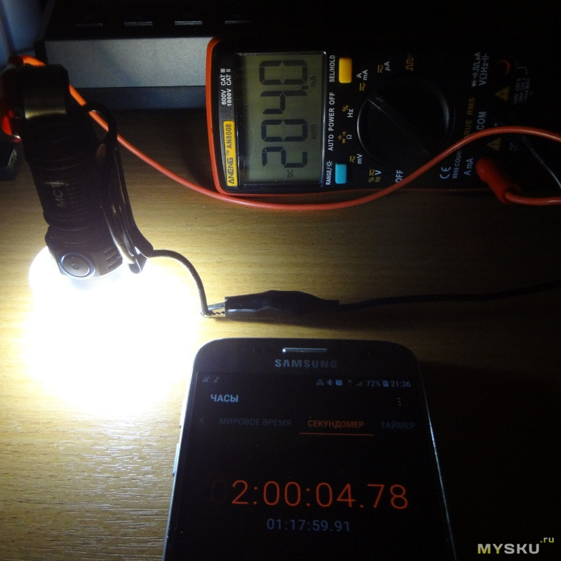 TrustFire MC1 фонарик + TrustFire 16340 аккумулятор
