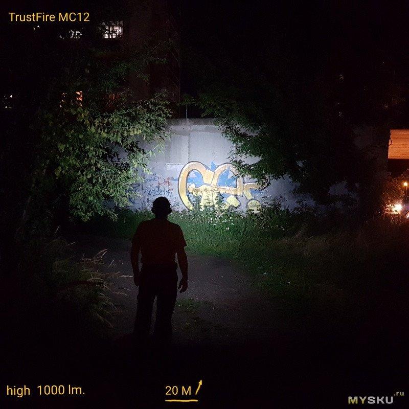 Фонарик налобный TrustFire MC12 с питанием от 16340