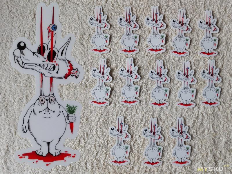 Контурные наклейки с рисунком заказчика