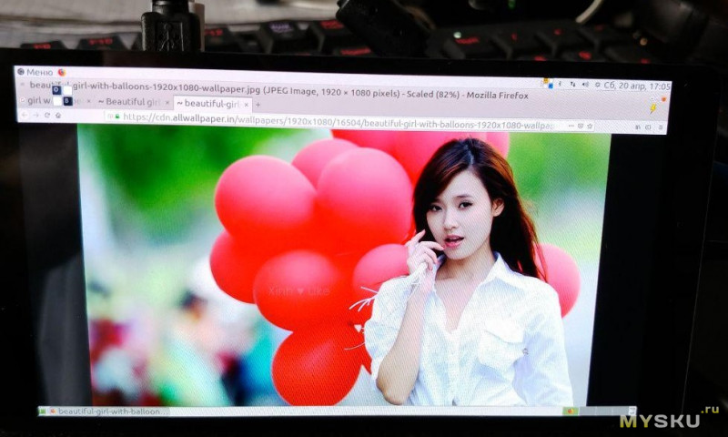 """Дисплей для Raspberry PI - Amoled 5.5"""" 1920*1080  Full HD с емкостным экраном и мультитачем"""