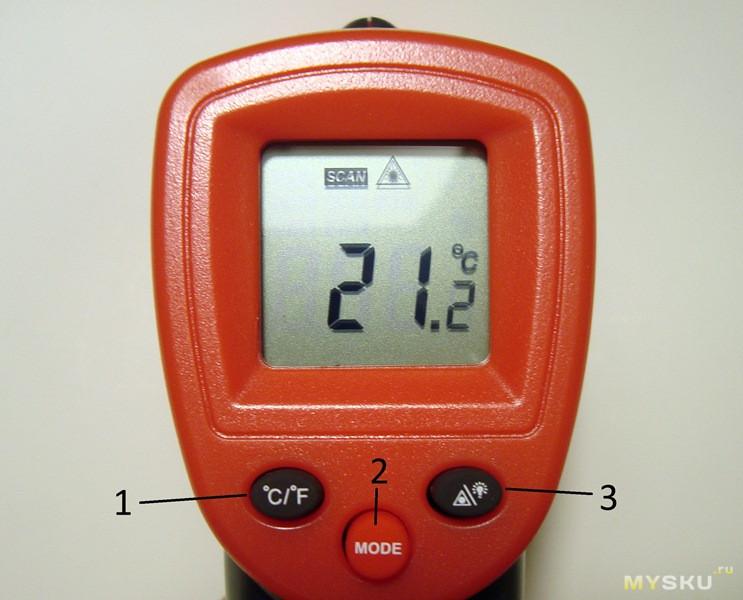 Бесконтактный термометр WINTACT WT320