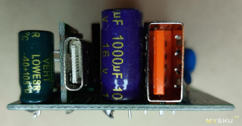 Зарядка (блок питания) Rock CY-QP01 с портами USB A + C мощностью 36 Вт