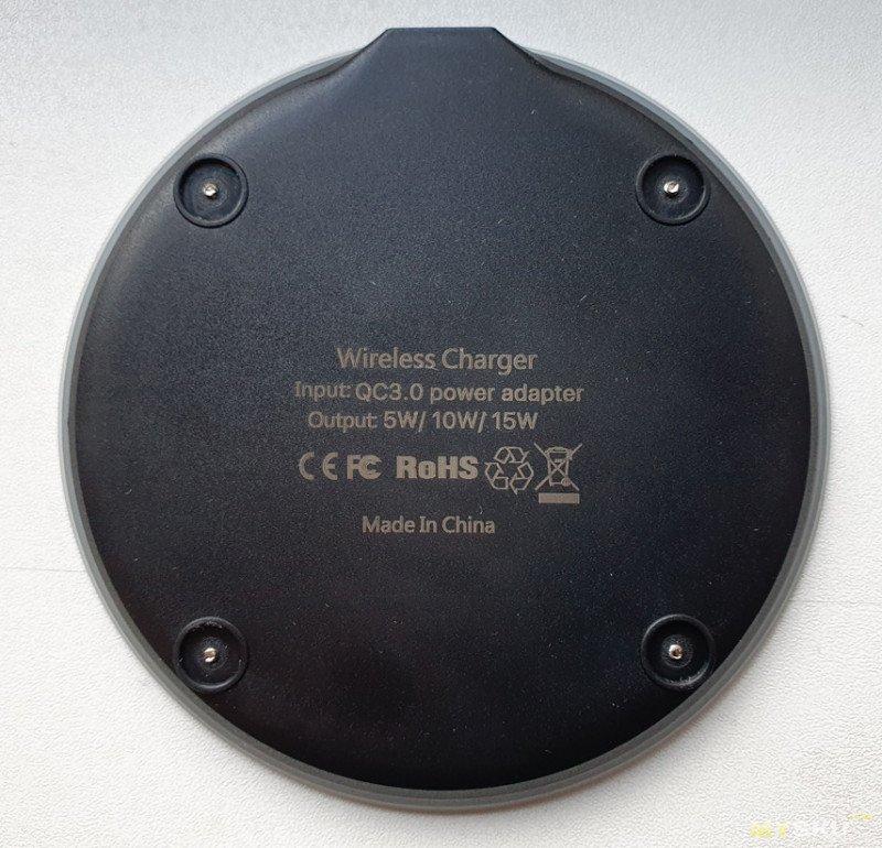Беспроводное зарядное устройство ROCK Qi 15 Вт