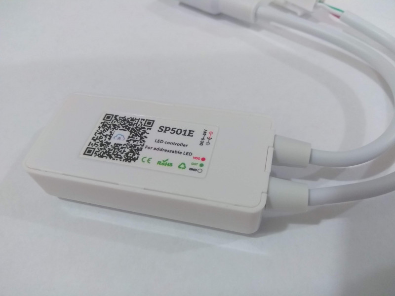 Новогодняя гирлянда с контроллером SP501E и адресной лентой WS2811