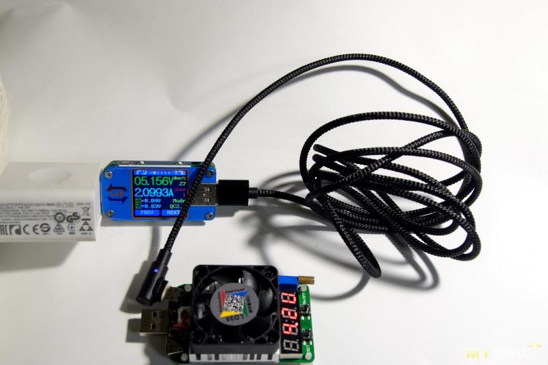 Очередной угловой кабель с магнитным разъемом