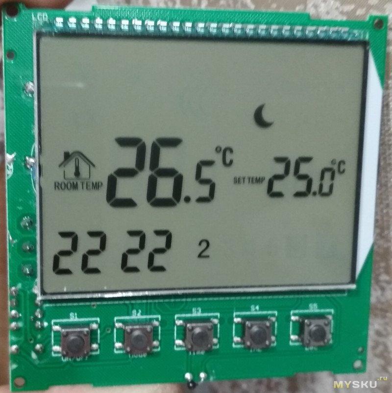 Программируемый термостат для газового котла на батарейках MJZM BGL02 5 lcd