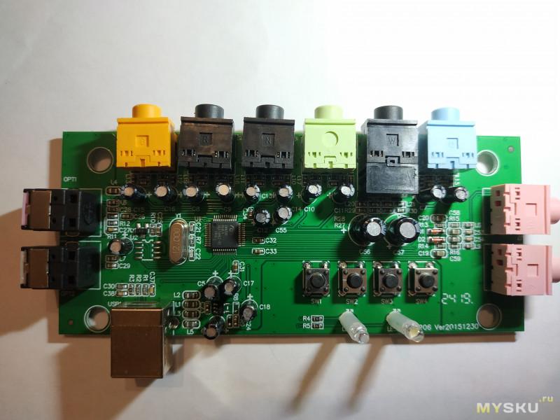 Обзор китайской внешней звуковой карты на чипе CM6206