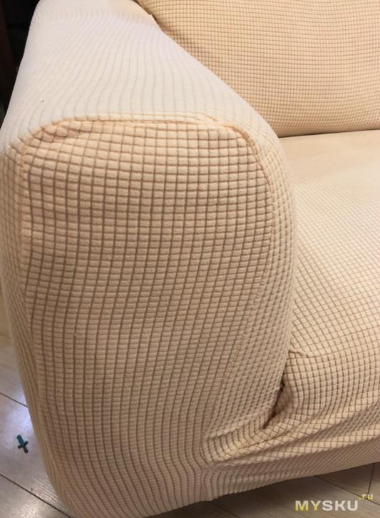 Чехол на 3-местный диван из бархатистой синтетики